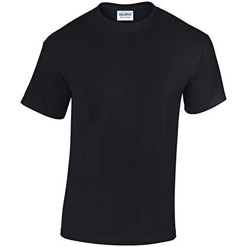 Gildan Enfants Coton Épais T-Shirt - Noir, M