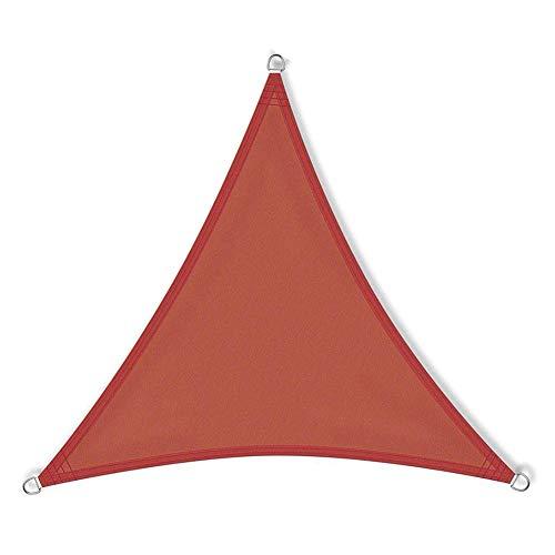 JQDZX Triangular Toldo Vela de Sombra 3 x 3 x 3 Metros, Parasol poliéster Impermeable a Prueba de Viento protección UV Permeable, para Jardín, terraza y balcón (6X6X6M,K)