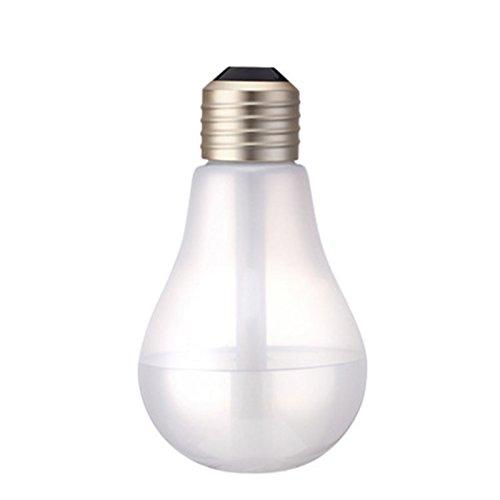 Preisvergleich Produktbild olayer 400 ml USB DC 5 V 7 Farben Nachtlicht Air Ultraschall-Luftbefeuchter Air Diffuser Mist Maker Nebelmaschine für Schlafzimmer Frost
