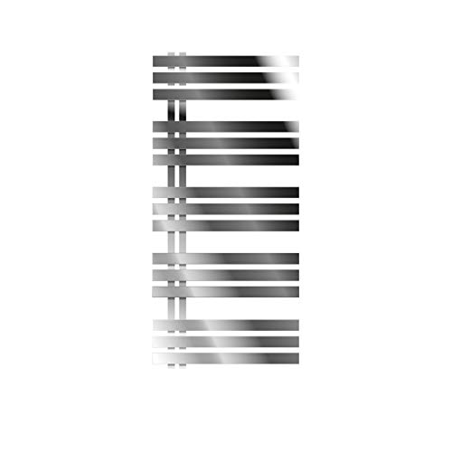 ECD Germany Iron EM Design Badheizkörper - 600 x 1200 mm - Chrom - Designheizkörper Paneelheizkörper Heizkörper Handtuchwärmer Handtuchtrockner Heizung Radiator
