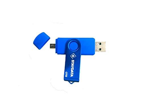 Staydata Memoria USB 3.0 Pendrive 64GB OTG para Dispositivos Android,  PC/Tableta/Mac (Blue)