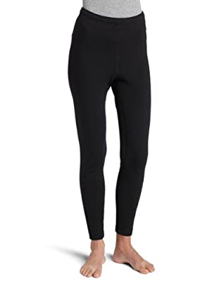 Duofold Women's Expedition Weight Two-Layer Thermal Pants, Black, Large