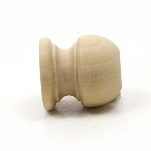 Mylittlewoodshop Pkg of 12 - Finial Dowel Cap - 1-1/16 Tall with 1/2 inch Hole Unfinished Wood (WW-DC8005-12)