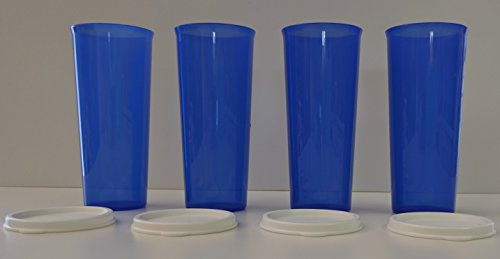 Tupperware Straight-Sided 16 oz Tumblers in Electric Blue