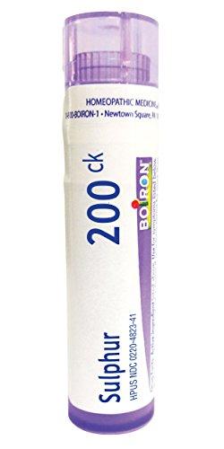 Boiron Sulphur 200C, 80 Pellets, Homeopathic Medicine for Skin Rash