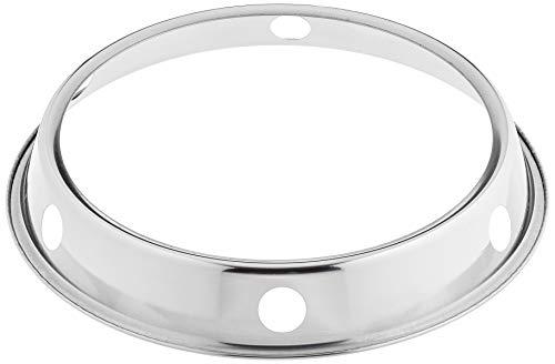 JADE TEMPLE 17065 Eisen-Ringhalterung für Wok, Eisen,silber 5 x 25.5 x 25.5 cm