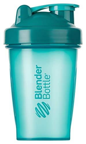 BlenderBottle Classic Shaker mit BlenderBall, optimal geeignet als Eiweiß Shaker, Protein Shaker, Wasserflasche, Trinkflasche, BPA frei, skaliert bis 400 ml, Fassungsvermögen 590 ml, teal türkis