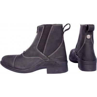 Horka Robin Boots d'équitation – Cuir équestre Cheval d'équitation d'extérieur résistant Zip, noir