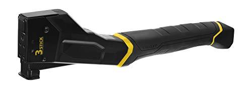 Stanley FatMax Hammer Tacker Extra Light Set (rückschlagfrei, rückstaufrei, 3er Klammerfach extra lang, ideal für Dachdecker und Bodenleger, inkl. 1.000 Klammern Typ G 10mm) FMHT81394-9