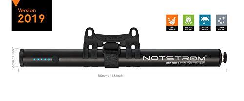 ZNEX NOTSTRØM™ | wasserdichte IP67 Outdoor Powerbank mit Rahmenhalter fürs Fahrrad, Rennrad, MTB, Trekkingrad zum Laden von iPhone Handy GPS USB Bike Lampe | 10000mAh/2.4A