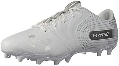 Under Armour Men's Nitro Low MC Football Shoe, White (100)/Metallic Silver, 12