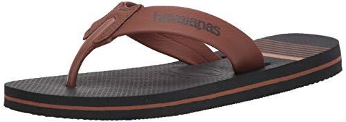 Havaianas Men's Urban Craft Flip-Flop, New Graphite, 39/40 (US Men's 8) M