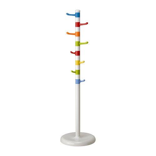 IKEA KROKIG–Kleiderständer, weiß, Mehrfarbig–128cm