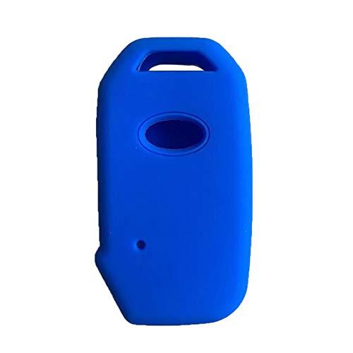 LOOIUEX Silicone Key Cover para Kia Sportage 2019 Ceed Sorento Cerato Forte Funda de Silicona para Llave remota para Kia Soul Fob Shell Cover Holder Key Cover para Alarma, Azul
