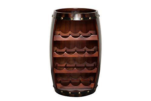 DuNord Design Weinregal Fassregal Holz 14 Flaschen 60cm Flaschenregal braun Tannenholz Massiv