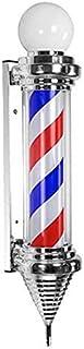 SAFGH Luz giratoria para peluquería al Aire Libre, Poste de peluquería clásico para Exteriores, luz led, Rayas de peluquer...