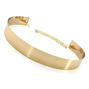YouBella Jewellery Celebrity Inspired Adjustable Metal Plate Type Golden Kamarband Waist Belt for Women/Girls