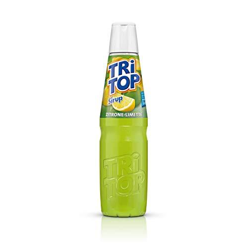 TRI TOP Zitrone-Limette | kalorienarmer Sirup für Erfrischungsgetränk, Cocktails oder Süßspeisen | wenig Zucker (1 x 600ml)