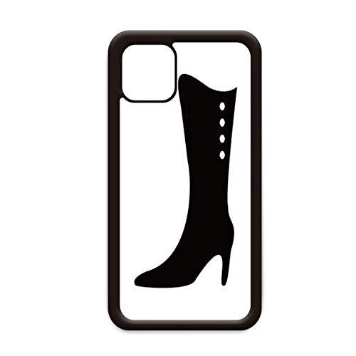 Eenvoudige grafische zwarte hoge laarzen Silhouette voor Apple iPhone 11 Pro Max Cover Apple mobiele telefoonhoesje Shell, for iPhone11 Pro Max