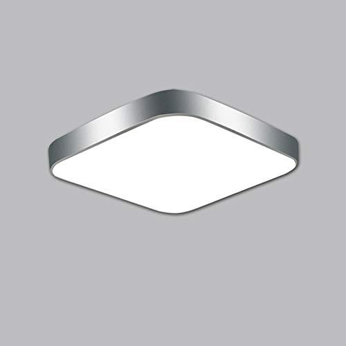 Lighfd LED Disk Light Kroonluchter Plafondlamp inbouw Vierkant Type Modern Inrichting for Living Badkamer Keuken Slaapkamer Balkon Daylight Silver Gold