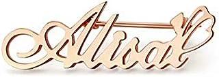 Jacklin F Nome Personalizzato Spilla Spilla Nome Personalizzato Spille Distintivo Colletto Spilla Fibbia Abito Camicia con...