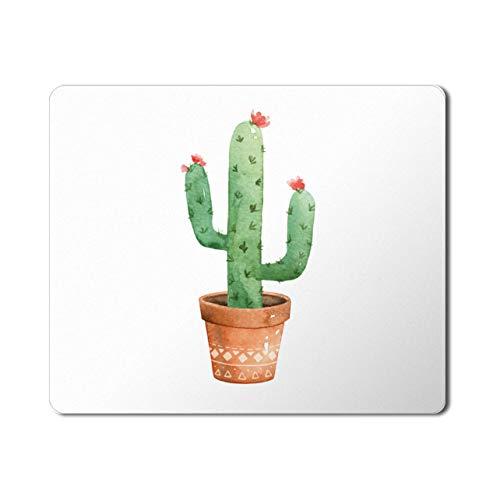 Genèrico Tappetino Mouse 23x20cm, Tessuto in Lycra con Base in Gomma Antiscivolo Cactus di Design