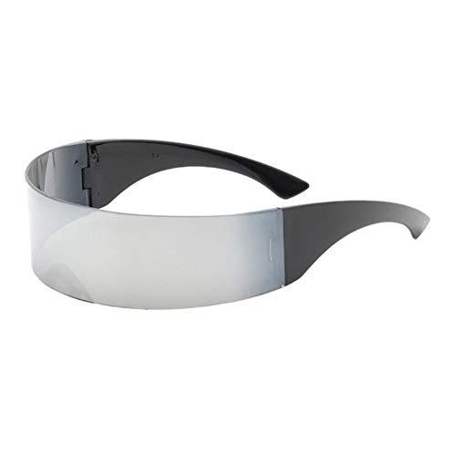 XMYNB Gafas Blu-ray Gafas De Fiesta Visera Envoltura Escudo Espejo Grande Gafas De Sol Montando Gafas A Prueba De Viento Gafas De Personalidad De Moda Gafas De Montar