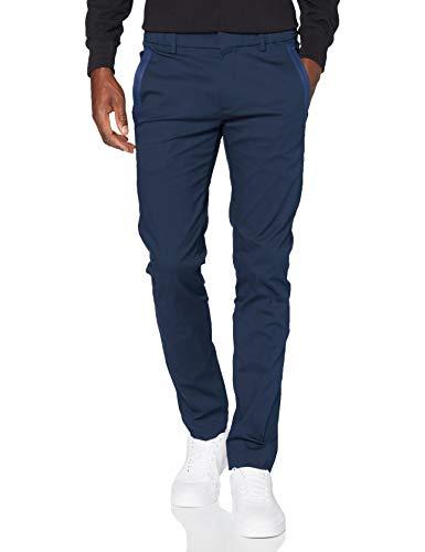 BOSS Herren Rogan4-1 Slim-Fit Hose aus elastischem Baumwoll-Mix mit Tapes an den Taschen