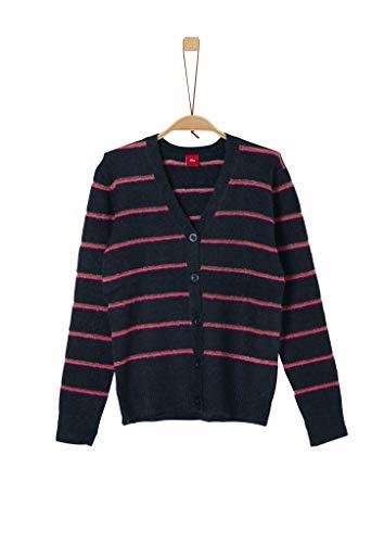 s.Oliver Mädchen Bouclé-Jacke mit Glitzer-Streifen navy knit L.REG