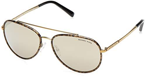 Michael Kors IDA Gafas de sol, Gold Marble 11645A, 59 Unisex-Adulto