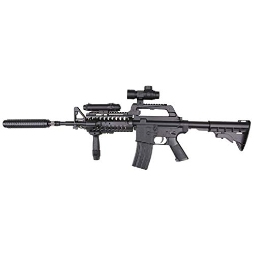 Well Airsoft Spring Rifle M4 S-System w/Accessories 0.5 Joule