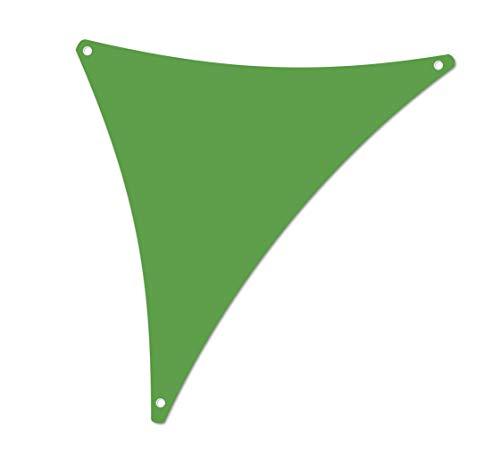 ALOHA Sonnensegel mit UV Schutz wasserabweisend Windschutz wetterschutz Garten und Terrasse (Grün, Dreieck 1.2x1.2x1.7m)
