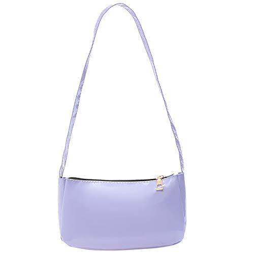ZGNB PU Leather Shoulder Clutch Bag with Zipper Closure for Women Girls Retro Lightweight Purse Tote Handbag