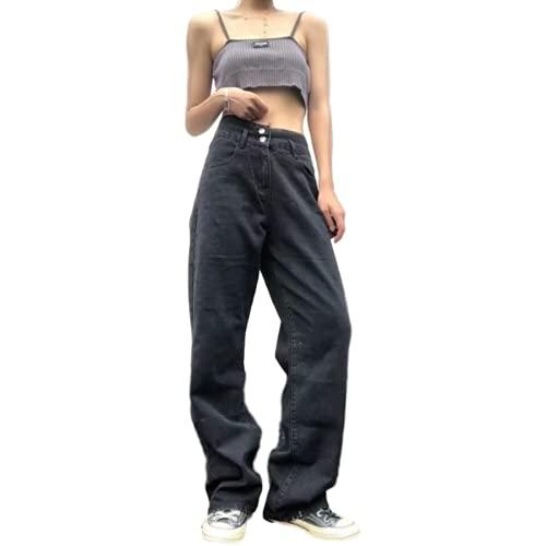 Jeans Boyfriend para Mujer Pantalones de Pierna Recta Instastretch de Cintura Alta Pantalones Casuales relajados Lavados a la Piedra deliciosos S