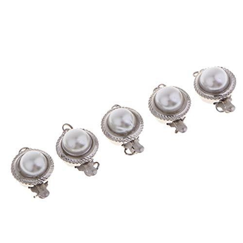 Harilla 5 Piezas de Perlas de Imitación, Cierres de Caja, Cierres de Conector, Cuentas de Interruptor para Hacer Joyas Que Se Ajusten