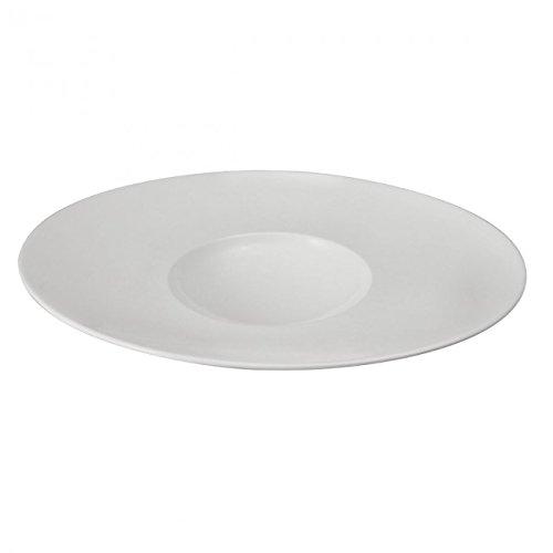 DEGRENNE - Gourmet Lot de 3 assiettes porcelaine ovale 32x27 cm - Blanc