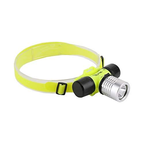 Linterna frontal LED sumergible para buceo, faro delantero impermeable y portátil, linterna frontal para luz de buceo