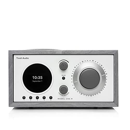 Tivoli Audio Model One + FM/DAB+ Radio con Bluetooth e telecomando, Grigio/Bianco