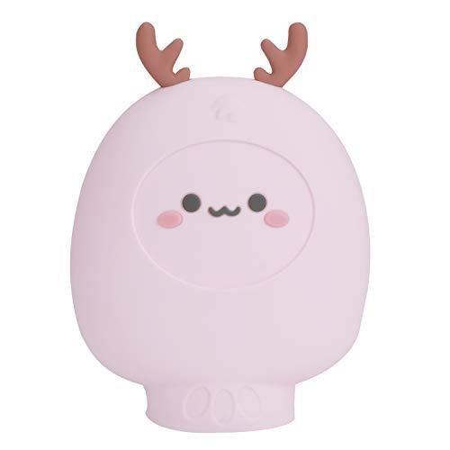 Bolsa de inyección de agua Botella de agua caliente segura Botella de agua caliente de dibujos animados suave y elástica de alta calidad duradera para el dormitorio del hogar(pink)