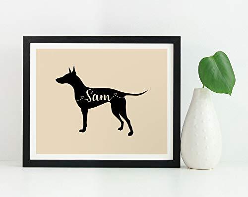 Manchester Terrier Kunstdruck benutzerdefinierte Manchester Terrier Geschenk Manchester Terrier Silhouette Wandkunst Poster Manchester Terrier Denkmal