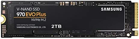 SAMSUNG 970 EVO Plus SSD 2TB - M.2 NVMe Interface Internal Solid State Drive with V-NAND Technology (MZ-V7S2T0B/AM)