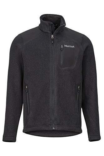Marmot Wrangell Jacket Veste Polaire, Veste d'extérieur à Fermeture éclair sur Toute la Longueur, Respirante, résistante au Vent Homme Black/Black FR: L (Taille Fabricant: L)