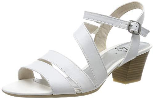 Jana 8-8-28312-22, Sandales Bride Cheville Femme, Blanc (White 100), 39 EU