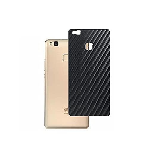 VacFun 2 Piezas Protector de pantalla Posterior, compatible con HUAWEI P9 lite PREMIUM, Película de Trasera de Fibra de carbono negra Skin Piel