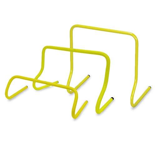 6er Set Mini-HÜRDEN verschieden Größen ↨ 15cm - 45cm inkl. Tasche | Slalom Hütchen | Training für Fußball | Agility für Hunde (30cm)