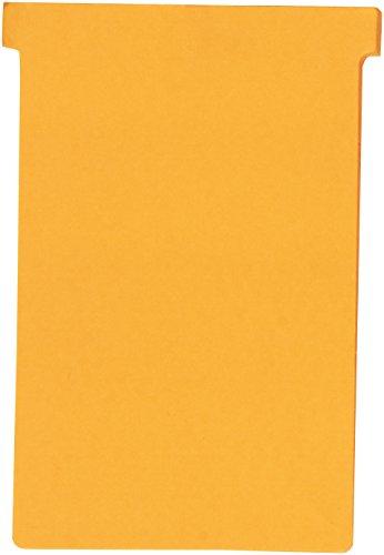 Nobo Kartentafel Zubehör T-Karten, Index 4, 100 Stück, orange