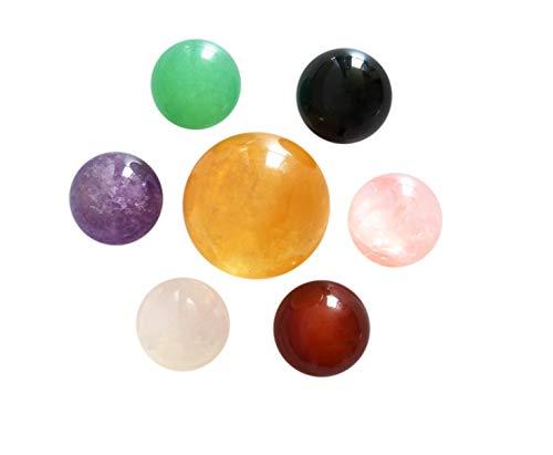 Mina Heal Juego de 7 bolas de cristal natural hechas de calcita...