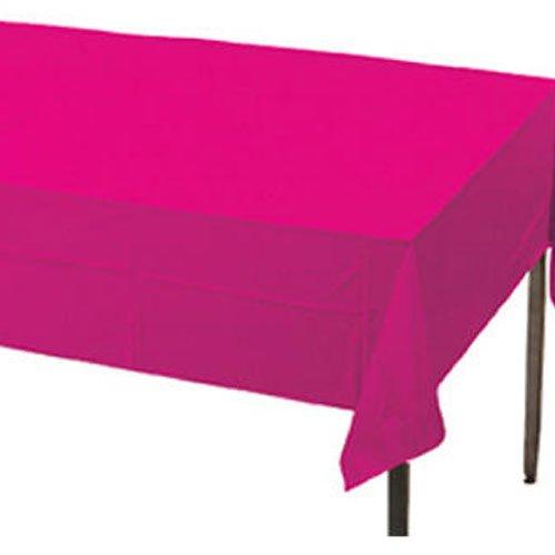 Creative Converting Plastic Banquet Table Cover, Hot Magenta, 137,2x 274,3cm