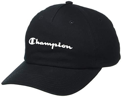 Champion Damen Script Dad Baseball Cap, schwarz/weiß, Einheitsgröße