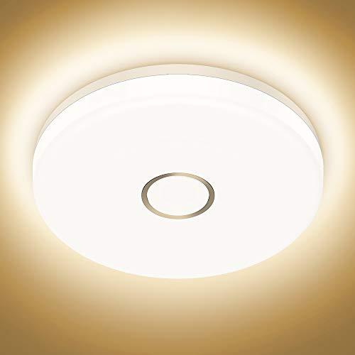Onforu 18W LED Deckenleuchte Badezimmer, Wasserdicht Deckenlampe, 1600lm 2700K Warmweiß Küchenlampe, CRI über 90 Badezimmerlampe, Badlampe Decke Lampe für Küche, Schlafzimmer, Wohnzimmer, Bad